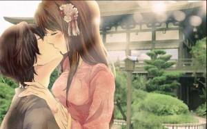 Gambar kartun ciuman