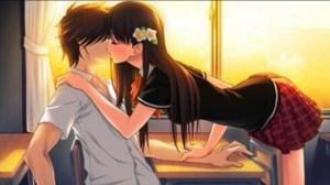 Gambar kartun ciuman mesra cewek panjang
