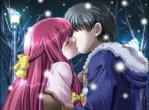 Gambar kartun ciuman mesra cewek cowok
